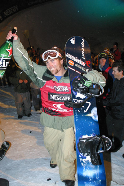Winning the Davos SB Jam, now known as the O'Neil evolution. Won this event 3 times. Guess you could say I liked Davos.