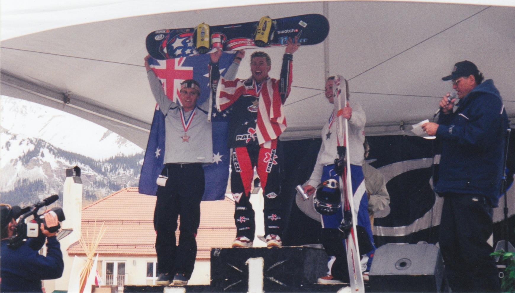 Junior champ on podium