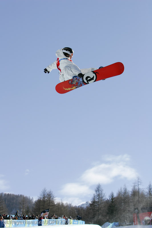 Andy Finch (USA) Air-To-Fakie during Men's Halfpipe Finals at the 2006 Olympic Winter Games in Bardonecchia, ITA (INC. 6-x Seq).