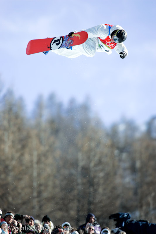 Andy Finch (USA) Method Air during Men's Halfpipe Qualifications at the 2006 Olympic Winter Games in Bardonecchia, ITA (INC. 11-x Seq).