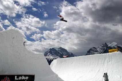 Super Park in Lake Louise. 90ft gap 180 method