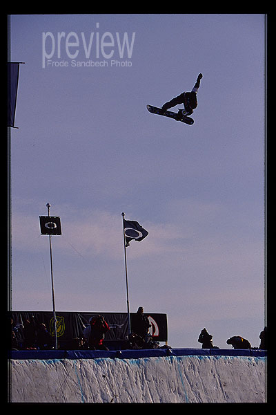 This was just before I did the biggest air I've ever done out of a Quarter Pipe. Arctic Challenge 2004