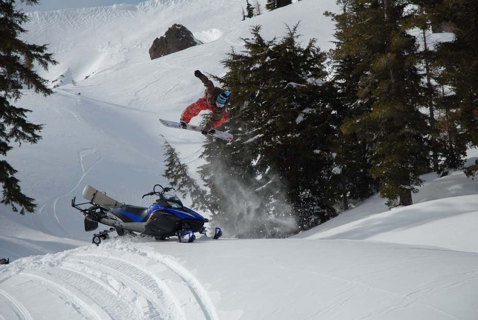 Front 720 over snowmobil